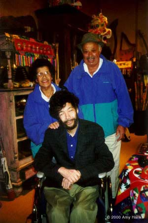 photo:Paul and his Parents at Clarion Music during his 50th Birthday celebration