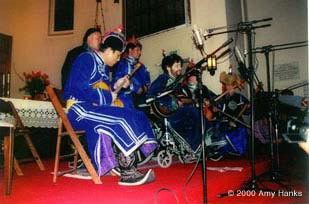 photo; Paul and the Eagles of Tuva. at the Presisio Chapel show, Jan. 6 , 2000